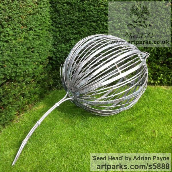 Forged Iron Garden Or Yard / Outside And Outdoor Sculpture By Sculptor  Adrian Payne Titled: