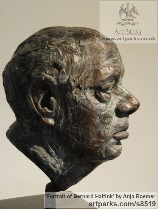 Modelled, bronze cast Famous People sculpture sculpture by sculptor Anja Roemer titled: 'Portrait of Bernard Haitink (bronze Bust sculpture)'