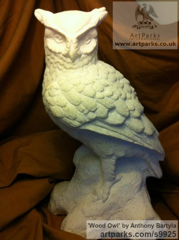 Perched birds sculptures statues carvings for