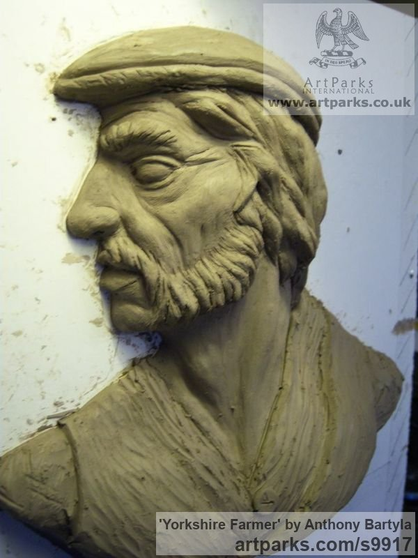 Portrait Sculptures / Commission or Bespoke or Customised sculpture by sculptor Anthony Bartyla titled: 'Yorkshire Farmer' - Artwork View 2