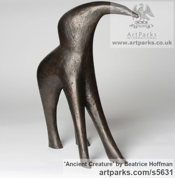 Bronze Resin Abstract Contemporary Modern Outdoor Outside Garden / Yard sculpture statuary sculpture by sculptor Beatrice Hoffman titled: 'Ancient Creature [4306]' - Artwork View 3