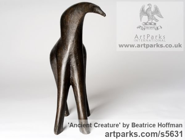 Bronze Resin Abstract Contemporary Modern Outdoor Outside Garden / Yard sculpture statuary sculpture by sculptor Beatrice Hoffman titled: 'Ancient Creature [4306]' - Artwork View 5