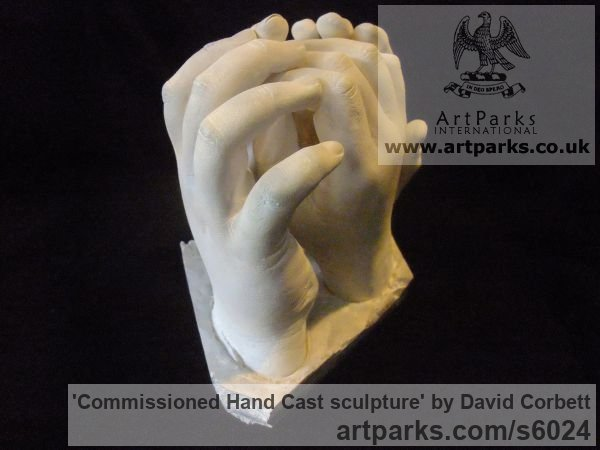 Plaster Peace Sculptures or Statues or statuettes sculpture by sculptor David Corbett titled: 'Commissioned Hand Cast sculpture (Indoor Plaster Togetherness statuette)' - Artwork View 3