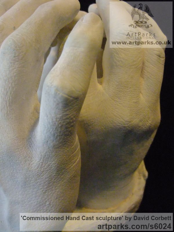 Plaster Peace Sculptures or Statues or statuettes sculpture by sculptor David Corbett titled: 'Commissioned Hand Cast sculpture (Indoor Plaster Togetherness statuette)' - Artwork View 4