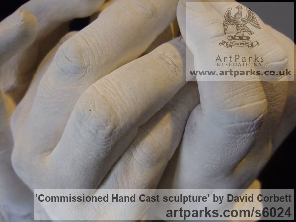 Plaster Peace Sculptures or Statues or statuettes sculpture by sculptor David Corbett titled: 'Commissioned Hand Cast sculpture (Indoor Plaster Togetherness statuette)' - Artwork View 5