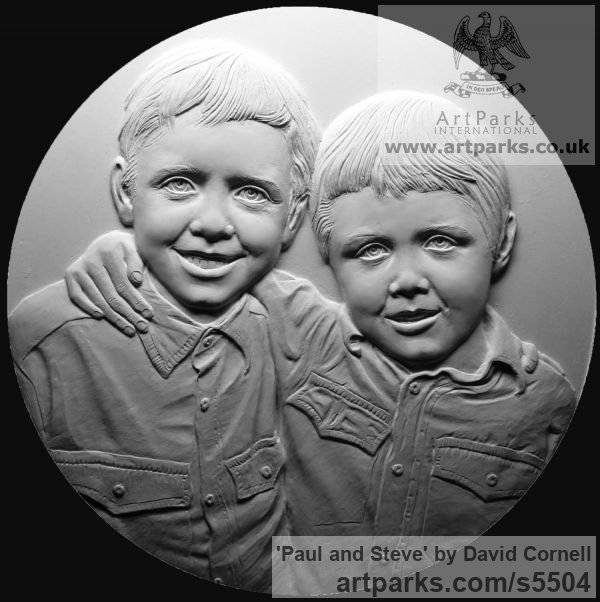 Wall Mounted or Wall Hanging sculpture by sculptor David Cornell titled: 'Paul and Steve' - Artwork View 2