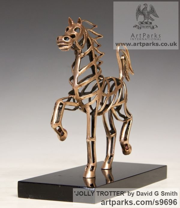 Bronze Horses Abstract / Semi Abstract / Stylised / Contemporary / Modern sculpturettes sculpture by sculptor David G Smith titled: 'JOLLY TROTTER (Contemporary Little Arab sculptures)' - Artwork View 3