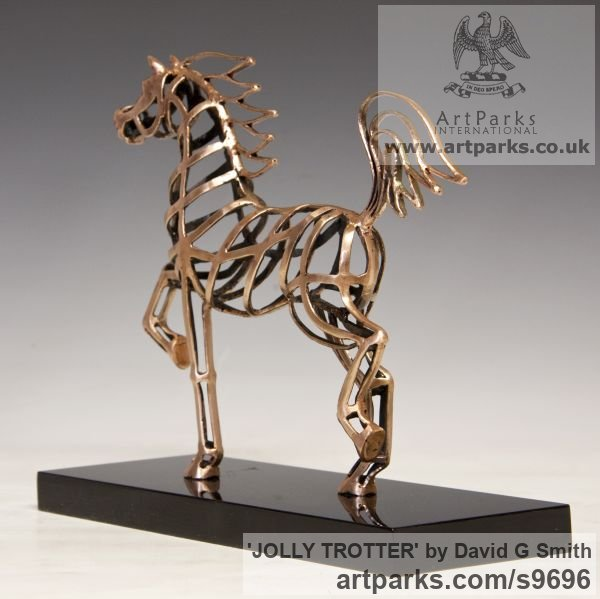 Bronze Horses Abstract / Semi Abstract / Stylised / Contemporary / Modern sculpturettes sculpture by sculptor David G Smith titled: 'JOLLY TROTTER (Contemporary Little Arab sculptures)' - Artwork View 4