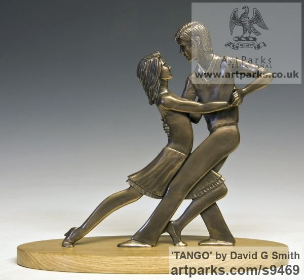 Bronze Spirit of Dance Abstract Contemporary Modern sculpture by sculptor David G Smith titled: 'TANGO (Little Young Latin Dancers sculpture)'