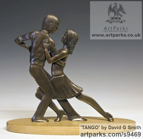 Bronze Spirit of Dance Abstract Contemporary Modern sculpture by sculptor David G Smith titled: 'TANGO (Little Young Latin Dancers sculpture)' - Artwork View 2