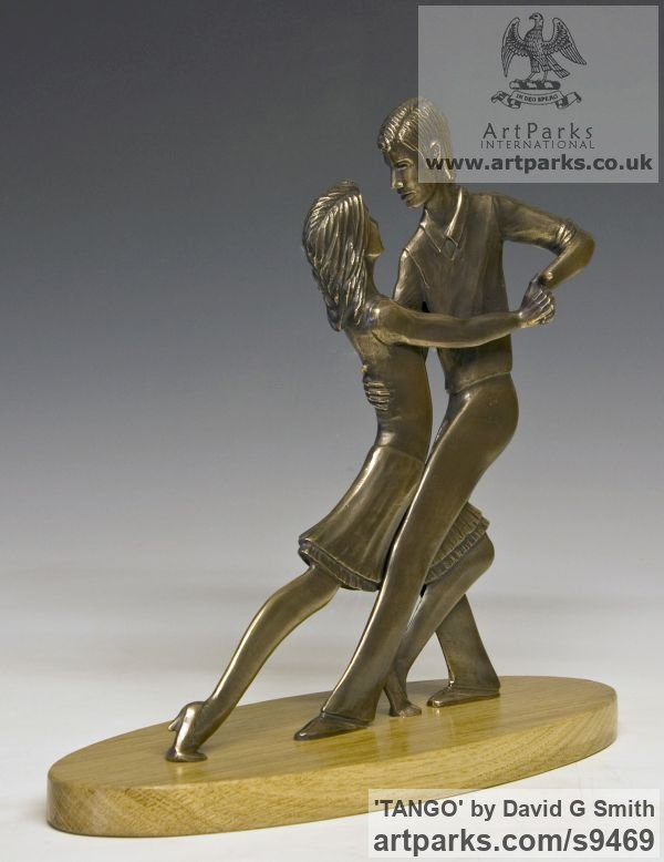 Bronze Spirit of Dance Abstract Contemporary Modern sculpture by sculptor David G Smith titled: 'TANGO (Little Young Latin Dancers sculpture)' - Artwork View 3