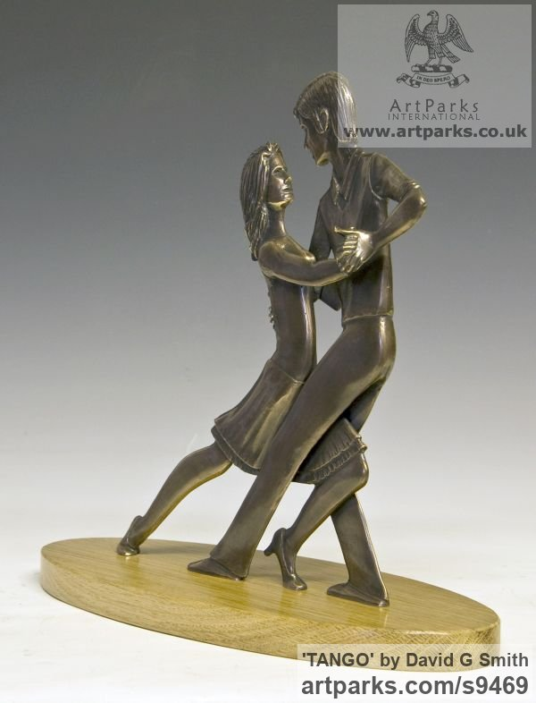 Bronze Spirit of Dance Abstract Contemporary Modern sculpture by sculptor David G Smith titled: 'TANGO (Little Young Latin Dancers sculpture)' - Artwork View 4