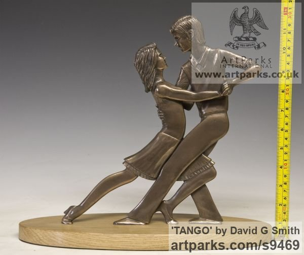 Bronze Spirit of Dance Abstract Contemporary Modern sculpture by sculptor David G Smith titled: 'TANGO (Little Young Latin Dancers sculpture)' - Artwork View 5