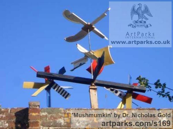 Mixed Media Garden Or Yard / Outside and Outdoor sculpture by sculptor Dr. Nicholas Gold titled: 'Mushmumkin'