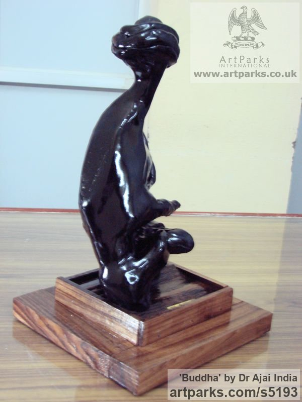 E R Gods or Goddess, or Deity sculpture by sculptor Dr Ajai India titled: 'Buddha (Contemporary abstract Seated statue)'