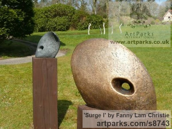 Bronze Abstract Contemporary Modern Outdoor Outside Garden / Yard sculpture statuary sculpture by sculptor Fanny Lam Christie titled: 'Surge (abstract Contemporary Bronze sculpture)' - Artwork View 2