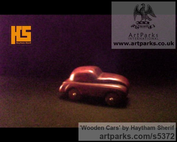 Wood Carved Wood sculpture by sculptor Haytham Sherif titled: 'wooden cars' - Artwork View 3