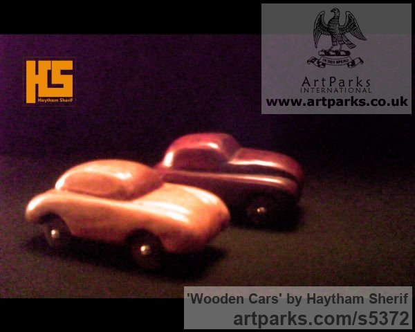 Wood Carved Wood sculpture by sculptor Haytham Sherif titled: 'wooden cars' - Artwork View 4