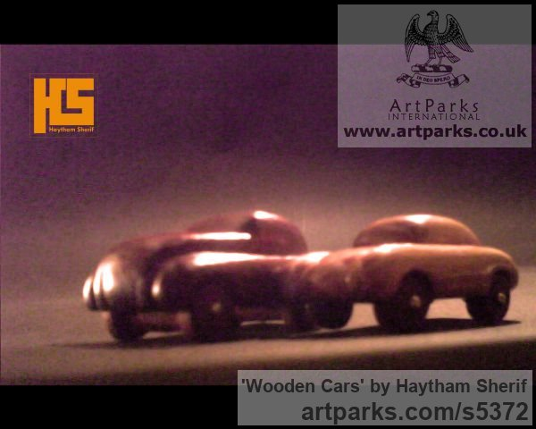 Wood Carved Wood sculpture by sculptor Haytham Sherif titled: 'wooden cars' - Artwork View 5