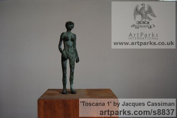 Bronze Females Women Girls Ladies sculpture statuettes figurines sculpture by sculptor Jacques Cassiman titled: 'Toscana 1'