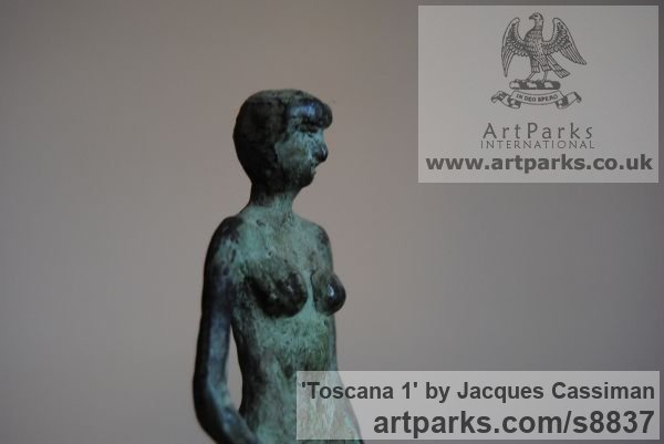 Bronze Females Women Girls Ladies sculpture statuettes figurines sculpture by sculptor Jacques Cassiman titled: 'Toscana 1' - Artwork View 2