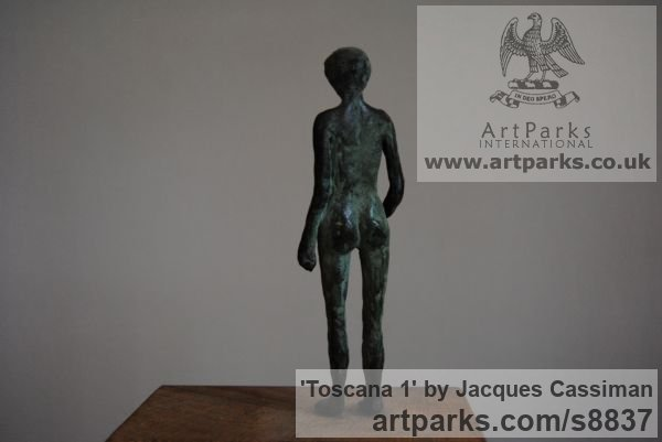 Bronze Females Women Girls Ladies sculpture statuettes figurines sculpture by sculptor Jacques Cassiman titled: 'Toscana 1' - Artwork View 4