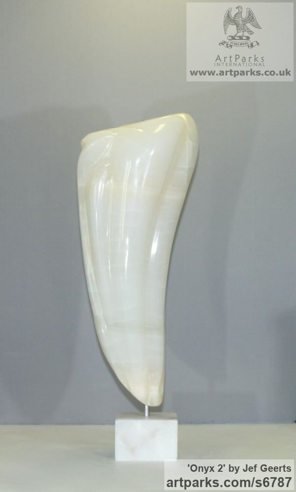 Onyx Modern Abstract Contemporary Avant Garde Sculptures or Statues or statuettes or statuary sculpture by sculptor Jef Geerts titled: 'Onyx 2 (Tooth Shaped abstract Contemporary Indoor sculpture Carving)' - Artwork View 4
