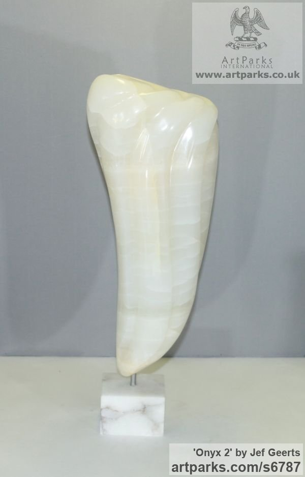 Onyx Modern Abstract Contemporary Avant Garde Sculptures or Statues or statuettes or statuary sculpture by sculptor Jef Geerts titled: 'Onyx 2 (Tooth Shaped abstract Contemporary Indoor sculpture Carving)' - Artwork View 5