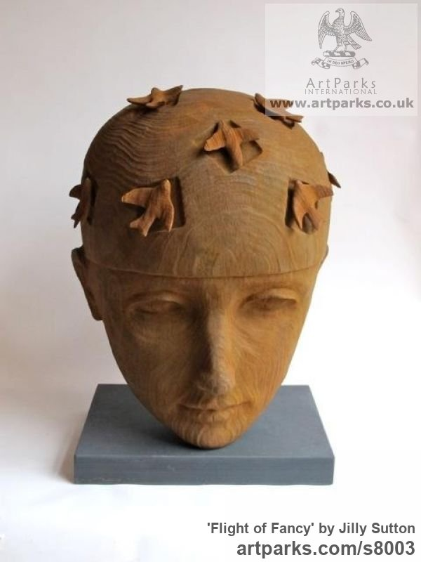 Iron-stone resin Portrait Sculptures / Commission or Bespoke or Customised sculpture by sculptor Jilly Sutton titled: 'Flight of Fancy (Iron- stone resin) [1]'
