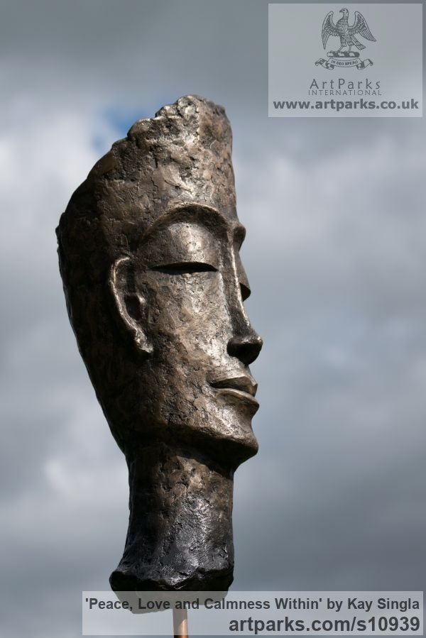 sculpture peace love and calmness within by sculptor kay singla