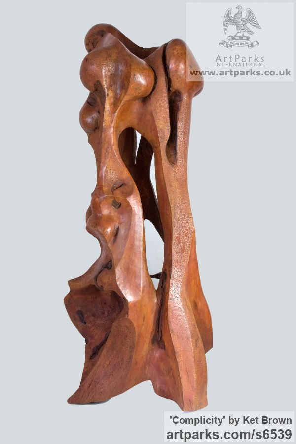 Bur elm Abstract Contemporary Modern Outdoor Outside Garden / Yard sculpture statuary sculpture by sculptor Ket Brown titled: 'Complicity' - Artwork View 1
