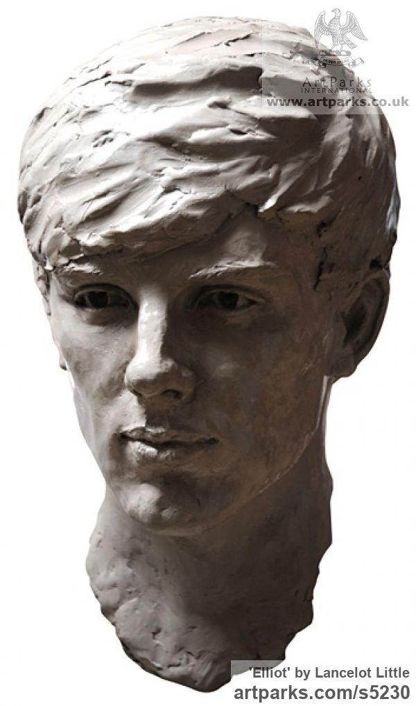 Clay Portrait Sculptures / Commission or Bespoke or Customised sculpture by sculptor Lancelot Little titled: 'Elliot (Bronze Portrait Head Bust Custom sculpture)' - Artwork View 1