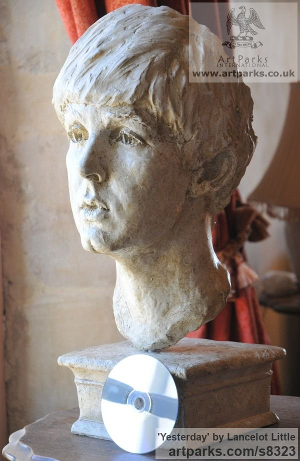 Plaster Famous People sculpture sculpture by sculptor Lancelot Little titled: 'Yesterday (Young Paul McCartney Portrait Head Bust statue)' - Artwork View 1