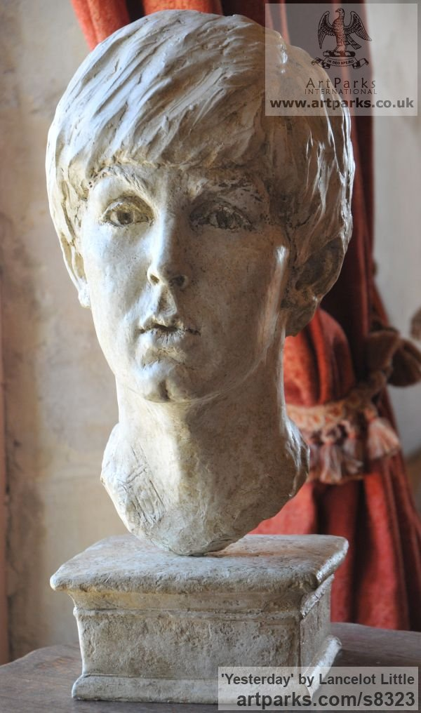 Plaster Famous People sculpture sculpture by sculptor Lancelot Little titled: 'Yesterday (Young Paul McCartney Portrait Head Bust statue)' - Artwork View 2