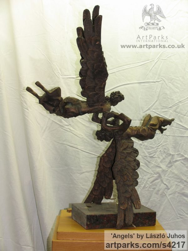 Bronze Females Women Girls Ladies sculpture statuettes figurines sculpture by sculptor L�szl� Juhos titled: 'Angels'