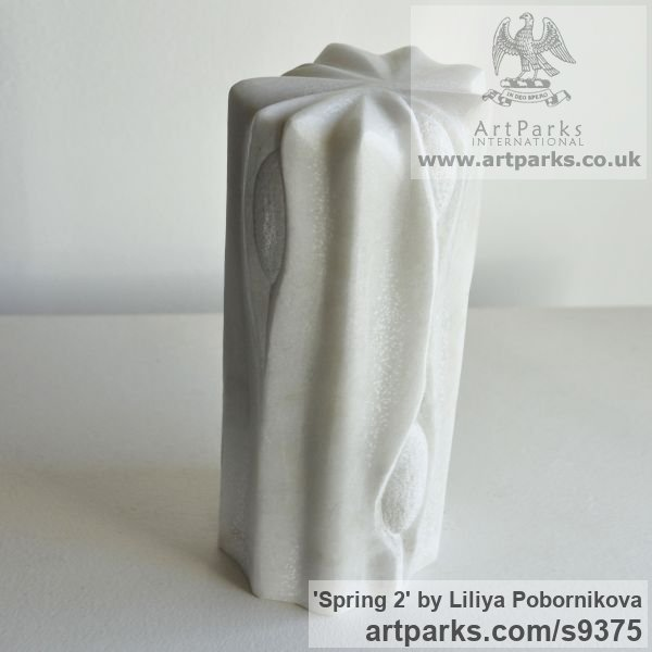 Marble sculpture Carved Abstract Contemporary Modern sculpture carving sculpture by sculptor Liliya Pobornikova titled: 'Spring 2'