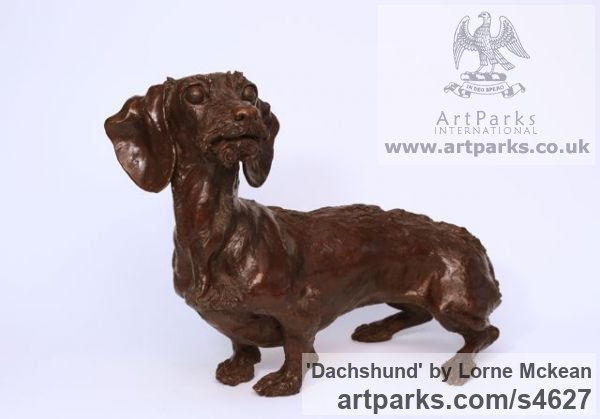 Sculpture Dachshund Bronze Commission Pet sculpture statuette