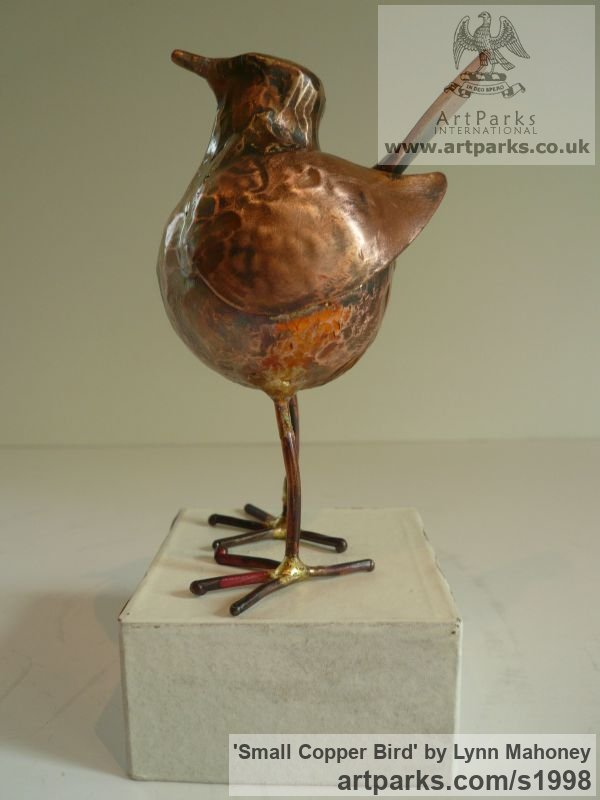 Copper Varietal Mix of Bird Sculptures or sculpture by sculptor Lynn Mahoney titled: 'Small Copper Bird sculptures' - Artwork View 3