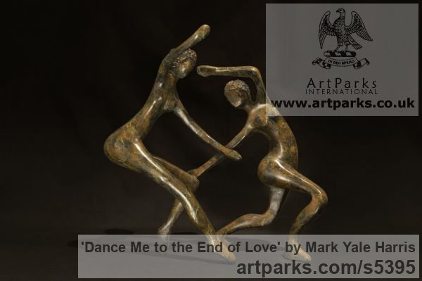 Bronze Calm Love and Affection Sculptures or sculpture by sculptor Mark Yale Harris titled: 'Dance Me to the End of Love (Small Dancing statue)'