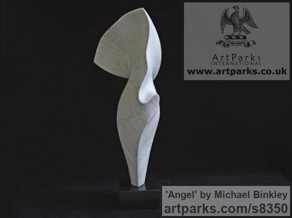 Carrara Pelacchi Marble Carved Abstract Contemporary Modern sculpture carving sculpture by sculptor Michael Binkley titled: 'Angel'