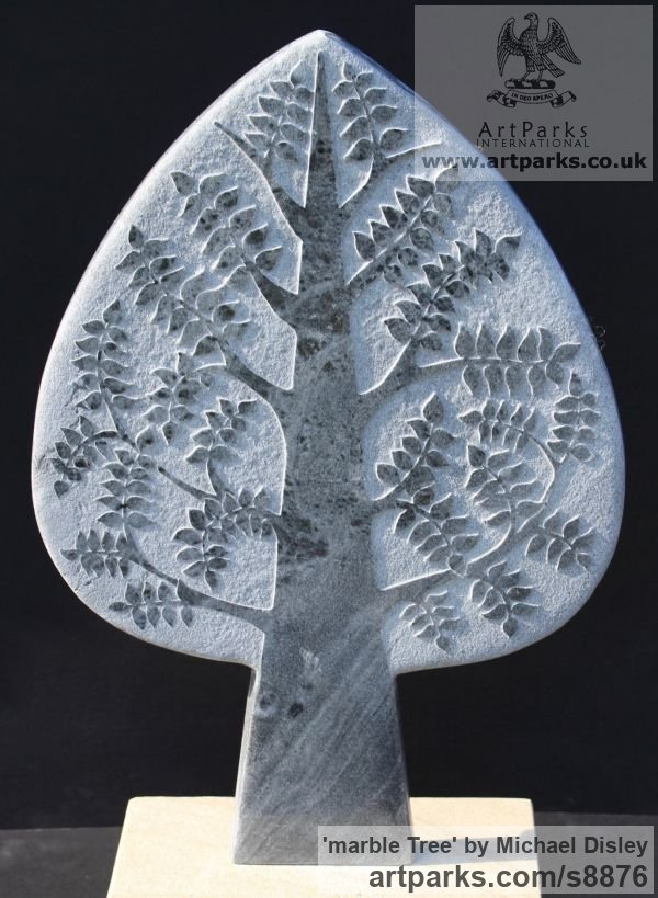 Marble Carved or Carving sculpture by sculptor Michael Disley titled: 'marble tree'