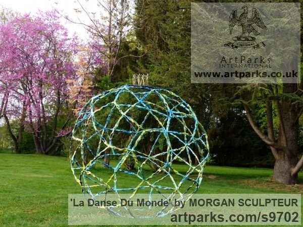 Bronze steel Abstract Contemporary Modern Outdoor Outside Garden / Yard sculpture statuary sculpture by sculptor MORGAN SCULPTEUR titled: 'La Danse du Monde (Symbolic World Peace sculpture)'