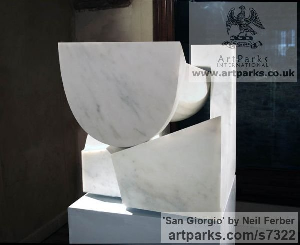 Carrara marble Carved Abstract Contemporary Modern sculpture carving sculpture by sculptor Neil Ferber titled: 'San Giorgio (Homage to Palladio Contemporary abstract statue Carving)'