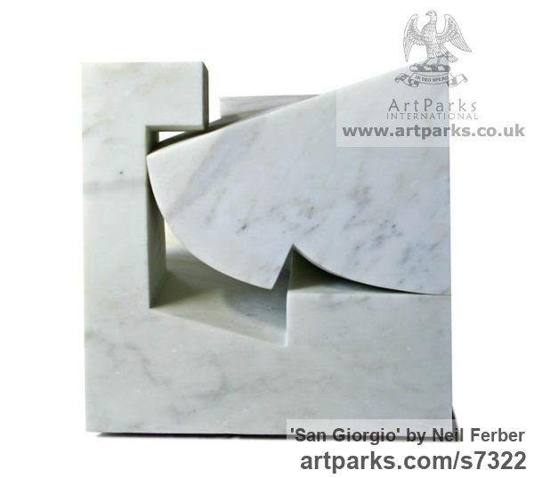 Carrara marble Carved Abstract Contemporary Modern sculpture carving sculpture by sculptor Neil Ferber titled: 'San Giorgio (Homage to Palladio Contemporary abstract statue Carving)' - Artwork View 2