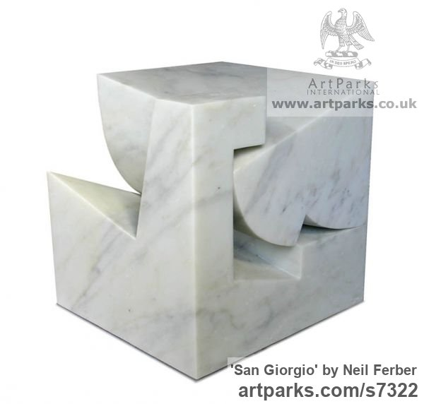 Carrara marble Carved Abstract Contemporary Modern sculpture carving sculpture by sculptor Neil Ferber titled: 'San Giorgio (Homage to Palladio Contemporary abstract statue Carving)' - Artwork View 4