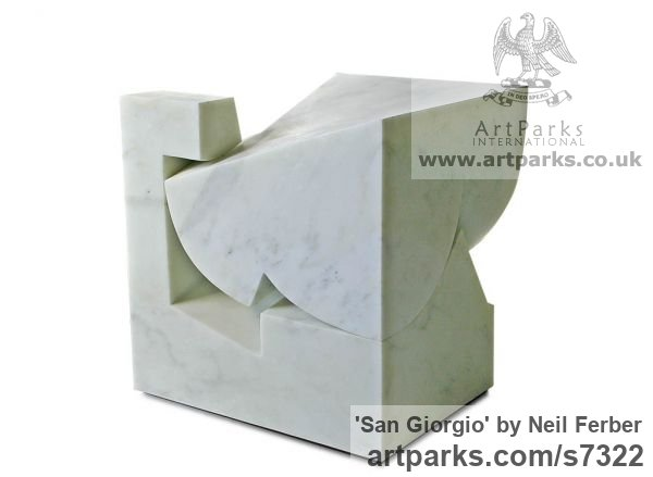 Carrara marble Carved Abstract Contemporary Modern sculpture carving sculpture by sculptor Neil Ferber titled: 'San Giorgio (Homage to Palladio Contemporary abstract statue Carving)' - Artwork View 5