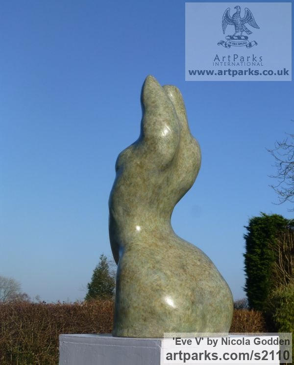 Bronze or Bronze Resin Torsos Chests Females / Women / Girls / Damsels sculpture statuary sculpture by sculptor Nicola Godden titled: 'Eve V (female Bronze abstract Minimalist Girl Torso)' - Artwork View 4