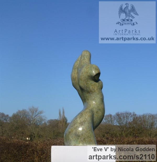 Bronze or Bronze Resin Torsos Chests Females / Women / Girls / Damsels sculpture statuary sculpture by sculptor Nicola Godden titled: 'Eve V (female Bronze abstract Minimalist Girl Torso)' - Artwork View 5
