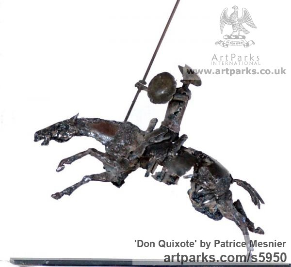 Sculpture: \'Don Quixote (Metal and Horse Rocinante sculptures ...