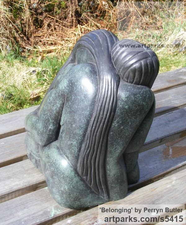 Bronze Resin Abstract Contemporary Modern Outdoor Outside Garden / Yard sculpture statuary sculpture by sculptor Perryn Butler titled: 'Belonging (A abstract Family garden Yard sculpture)' - Artwork View 1